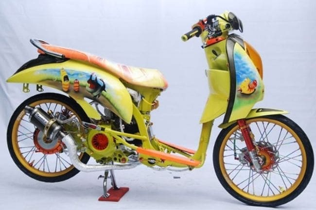 scoopy modifikasi ekstrem