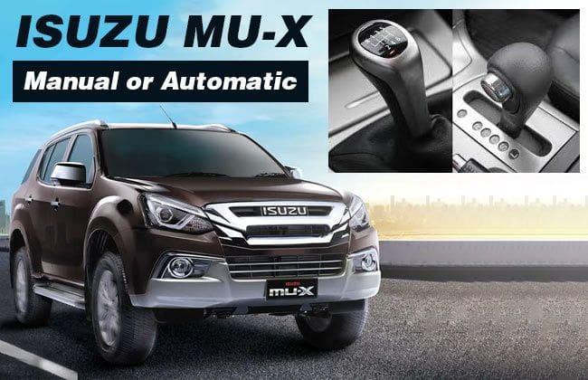 Isuzu mu-X - Manual or automatic