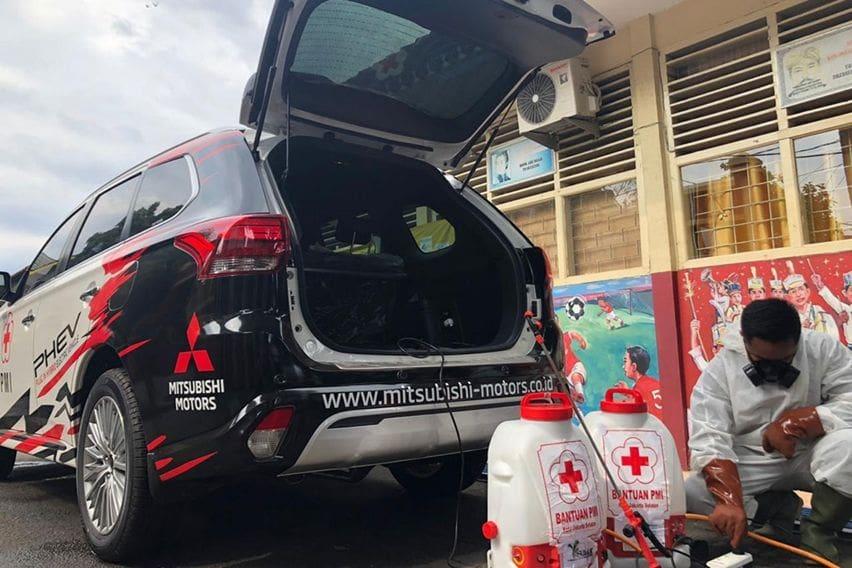 Mitsubishi Outlander PHEV Bantu PMI Mencegah Penyebaran (Coronavirus) COVID-19