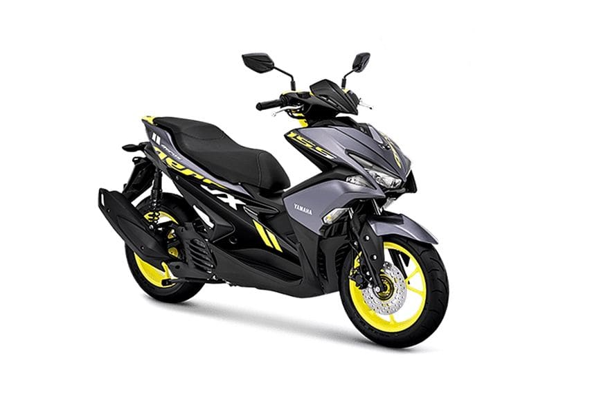 Yamaha Aerox grey yellow