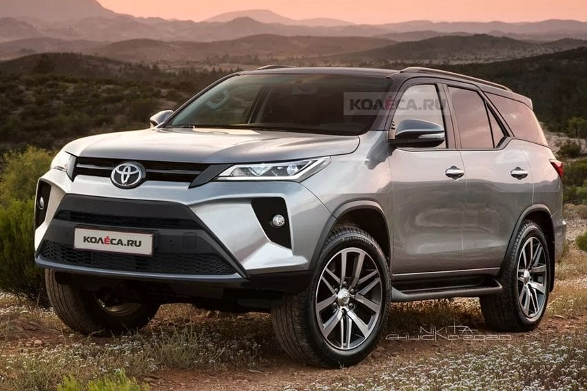 toyota fortuner 2020 rendered