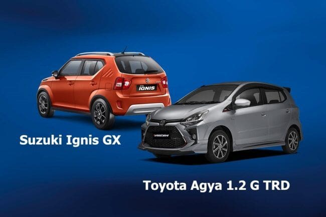 Suzuki Ignis GX Lawan Toyota Agya TRD, Beda Kelas Apakah Imbang?