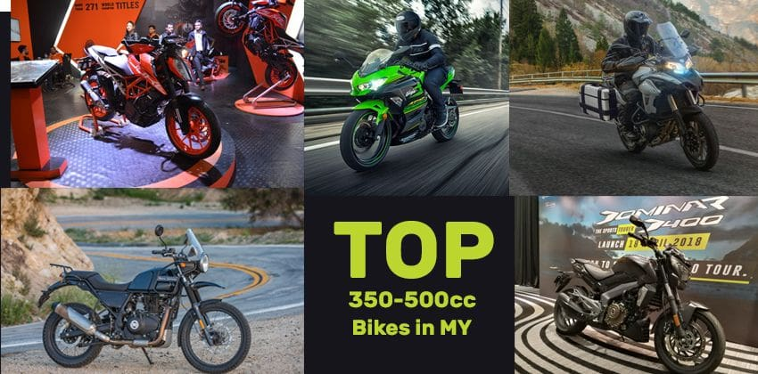 Top 5 mid-capacity bikes in Malaysia - Details, specs, price and more