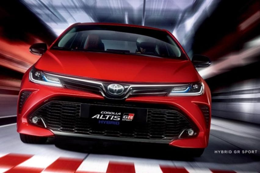 Corolla altis GR Sport front face