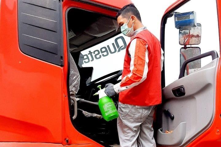 UD trucks disinfektasi