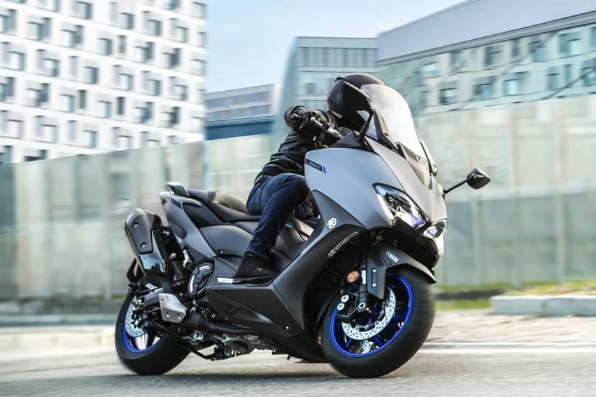 Yamaha TMax riding