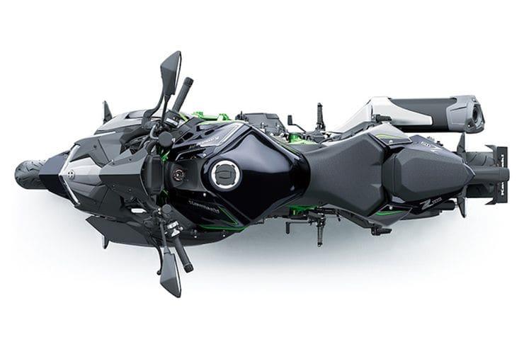 Kawasaki Z H2 upper angle