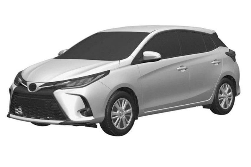 Toyota Yaris facelift patent images leaked
