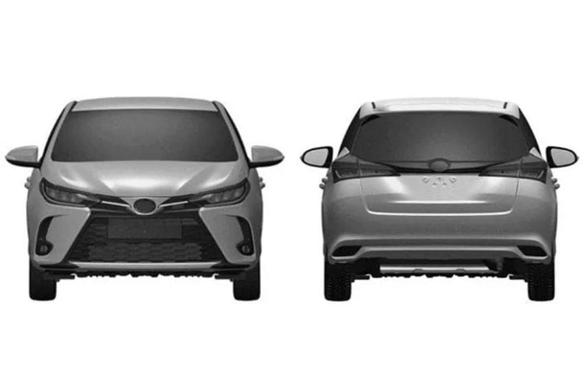 Toyota Yaris facelift patent images