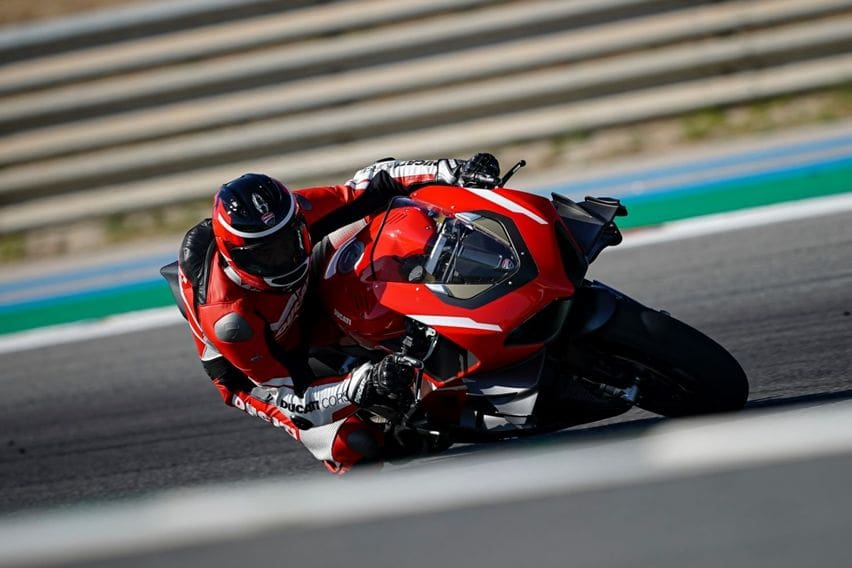 Ducati superleggera V4 on test