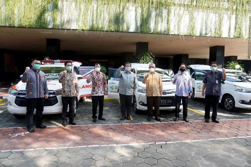 Toyota dan SERA Serahkan Bantuan ke Kemenkes RI