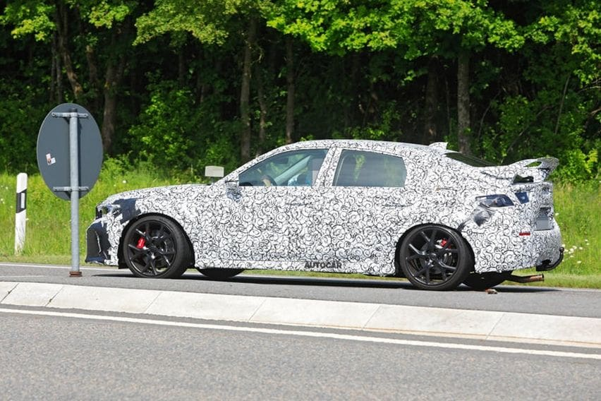 new Civic Type R  spyshots