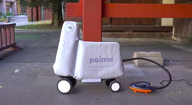 Poimo inflatable electric scooter revealed, can fit in a regular backpack