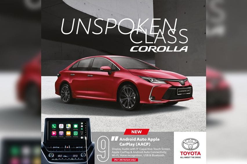 2020 Toyota Corolla comes with 9-inch display audio with AACP-ready connectivity