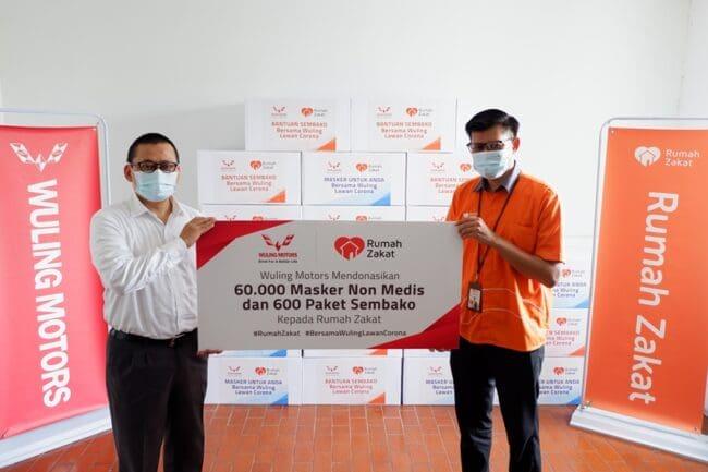 Wuling Berikan Bantuan Masker dan Sembako Untuk Masyarakat Terdampak Pandemi