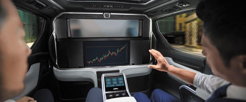 Layar monitor Lexus LM