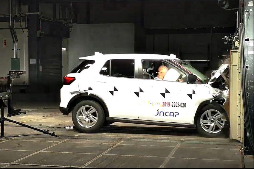 Daihatsu Rocky crash test JNCAP