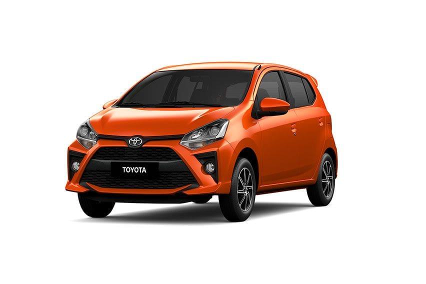 2020 Toyota Wigo Orange Metallic