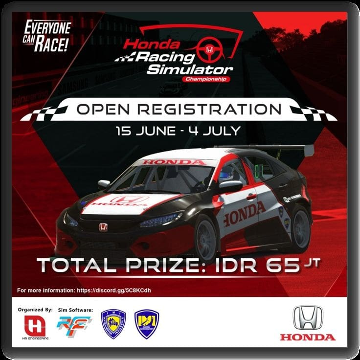 hadiah balap virtual honda