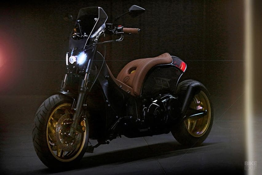 Hilangkan Tingkat Kepraktisan, Yamaha TMax Dimodifikasi Bergaya Radikal