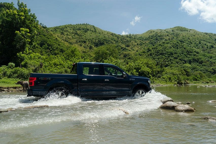 Ford F-150 water