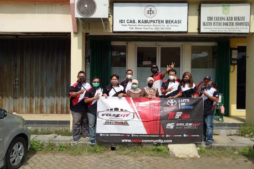 Donasi APD Avanza Veloz Community Bekasi Chapter
