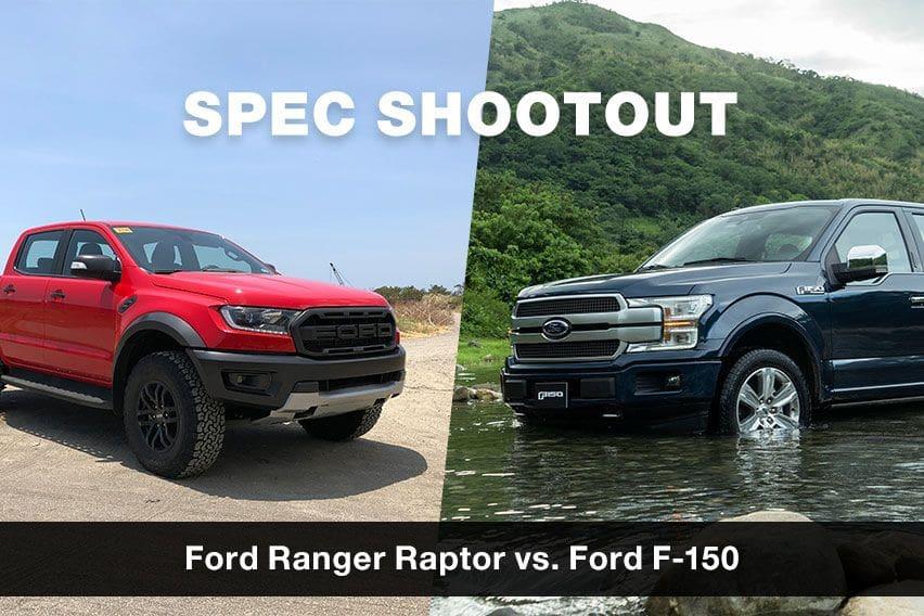 Spec shootout: Ford F-150 vs. Ford Ranger Raptor