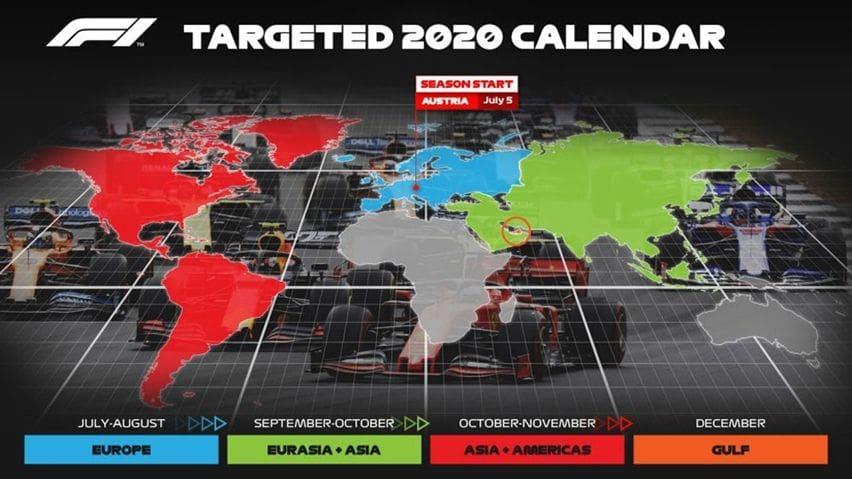 Jadwal kalender F1 2020