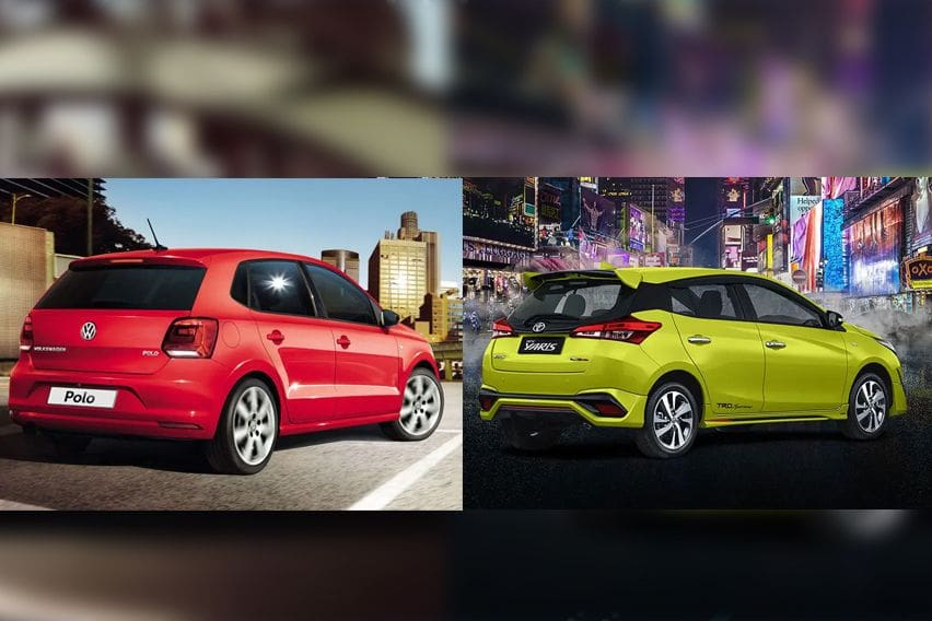 Volkswagen Polo vs. Toyota Yaris - rear