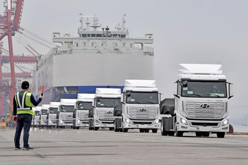 Hyundai Xcient FCEV berangkat ke Swiss