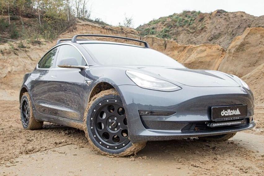 Modifikasi Tesla Model 3 Bergaya Off-roader