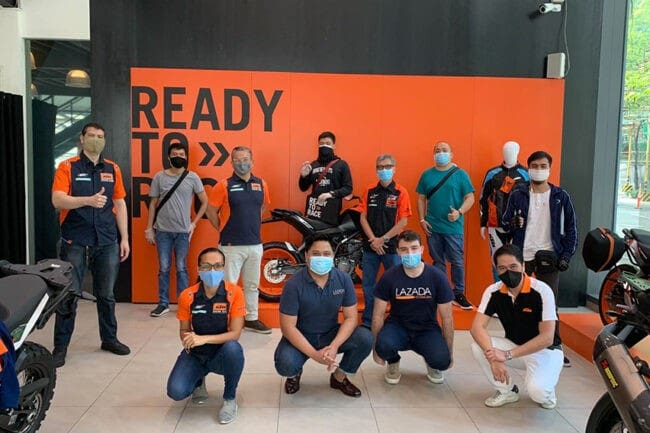 KTM motorcycles to be available on LazMall by Aug. 1