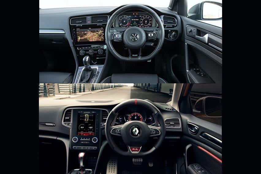 Volkswagen Golf 2.0L TSI R vs Renault Megane R.S. : Cabin