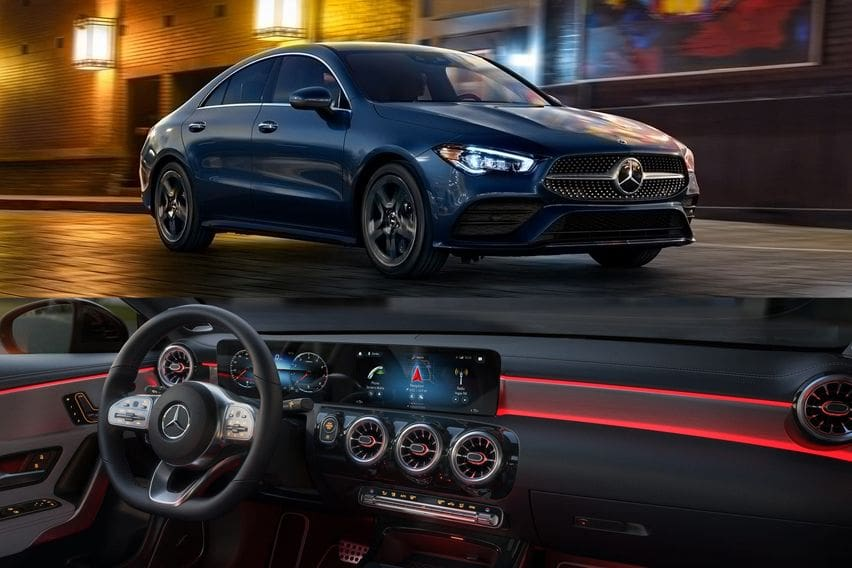 Mercedes-Benz CLA250 front and rear