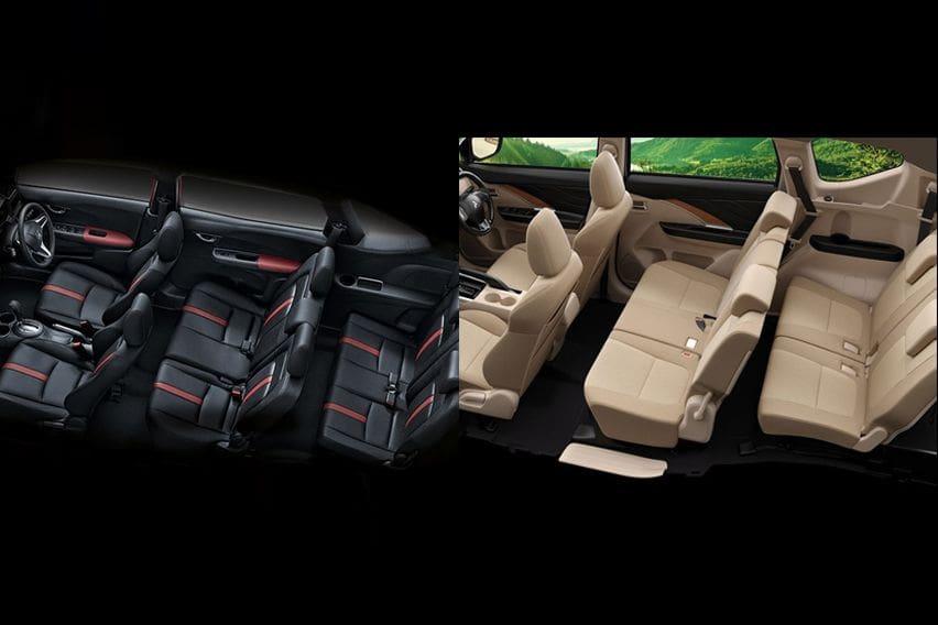 Mitsubishi Xpander or Honda BR-V - cabin