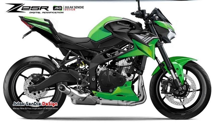 Begini Visualisasi Kawasaki Ninja ZX-25R Versi Naked Bike