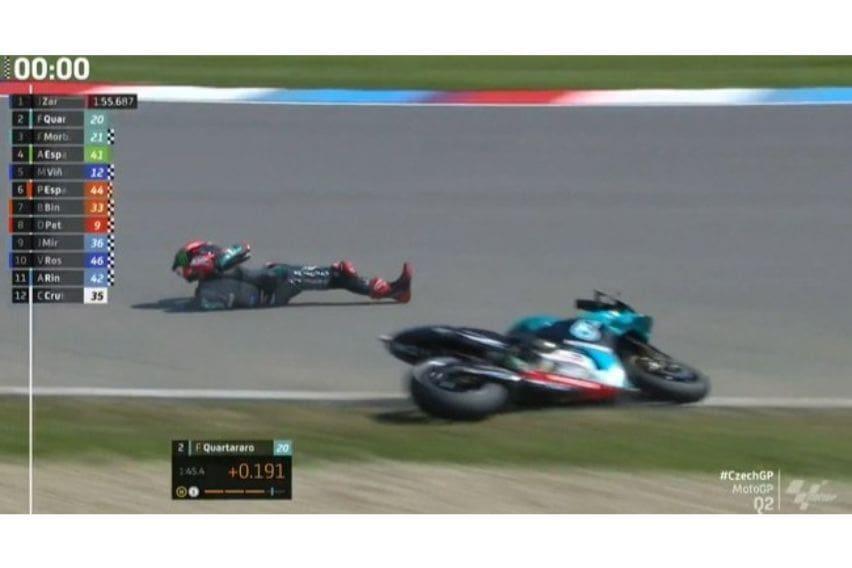 Crash Quartararo MotoGP 2020 Brno1