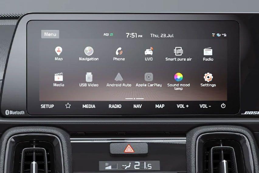 Kia Sonet touch screen