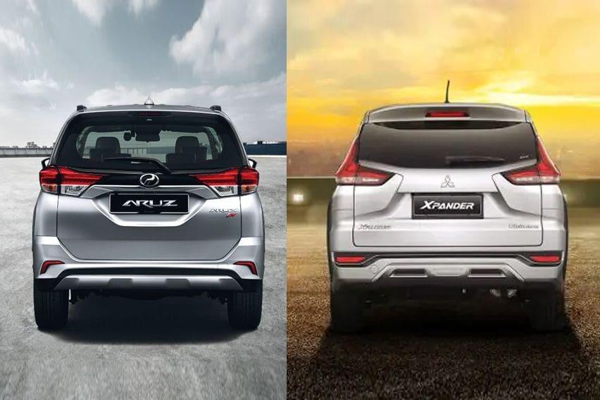 Mitsubishi Xpander or Perodua Aruz - rear