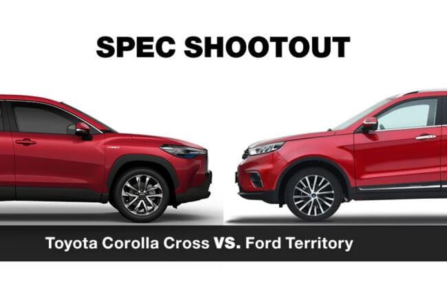 Spec shootout: Toyota Corolla Cross vs. Ford Territory