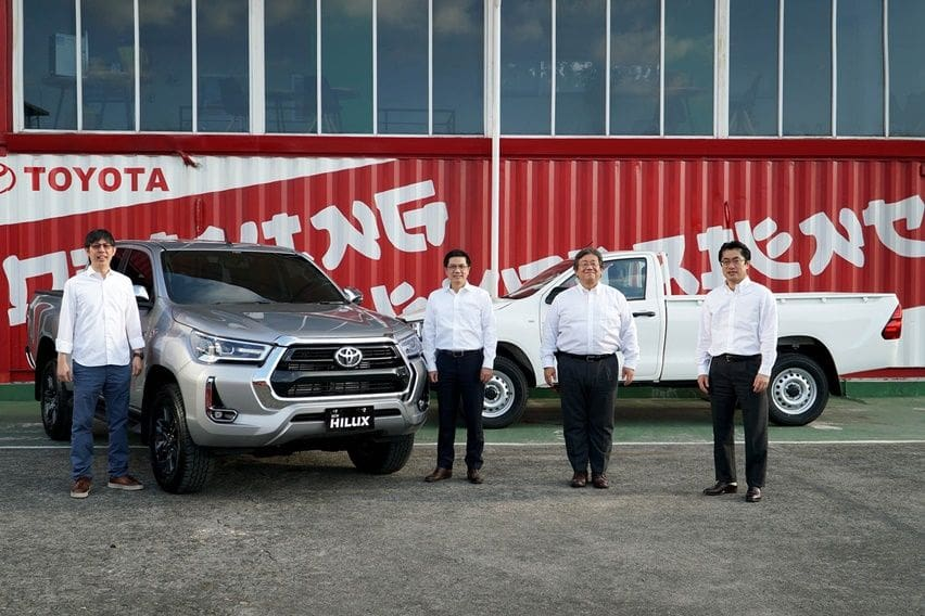 launching Toyota Hilux facelift
