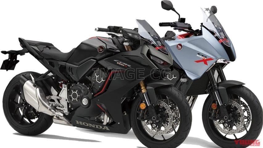 Rendering Honda CB1000X dan CBR1000R Terungkap