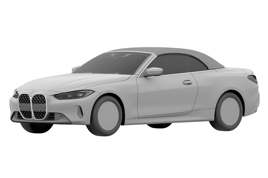 2022 BMW 4 Series Convertible patent images leaked
