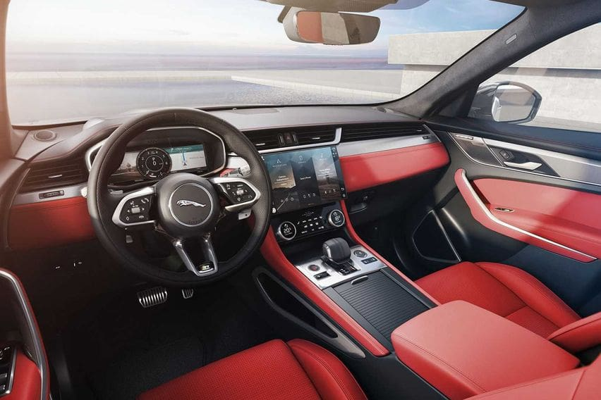 2021 Jaguar F-Pace interior