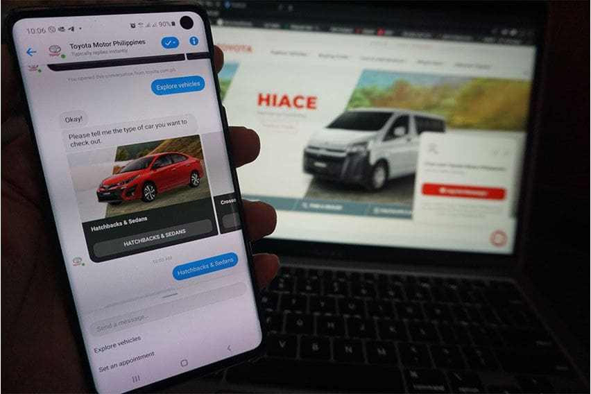 Now, you can chat with Toyota PH on Messenger and Viber