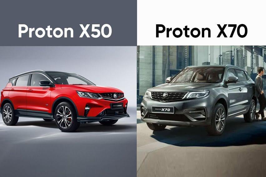 Proton X50 vs Proton X70: Similarities and differences explained