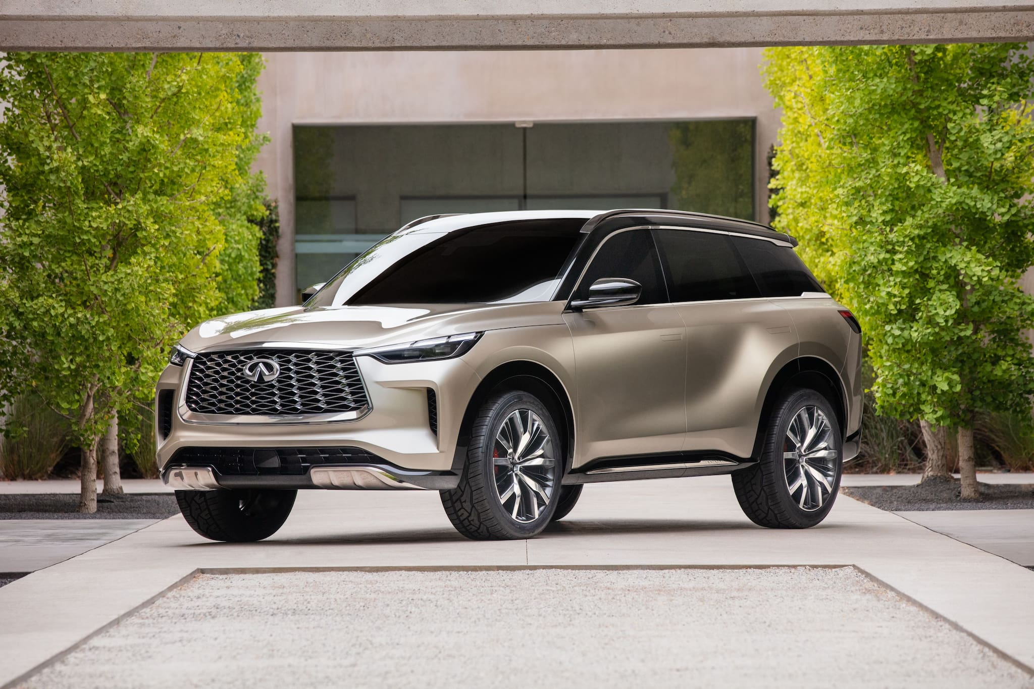 Infiniti previews future look of the QX60 with Monograph concept