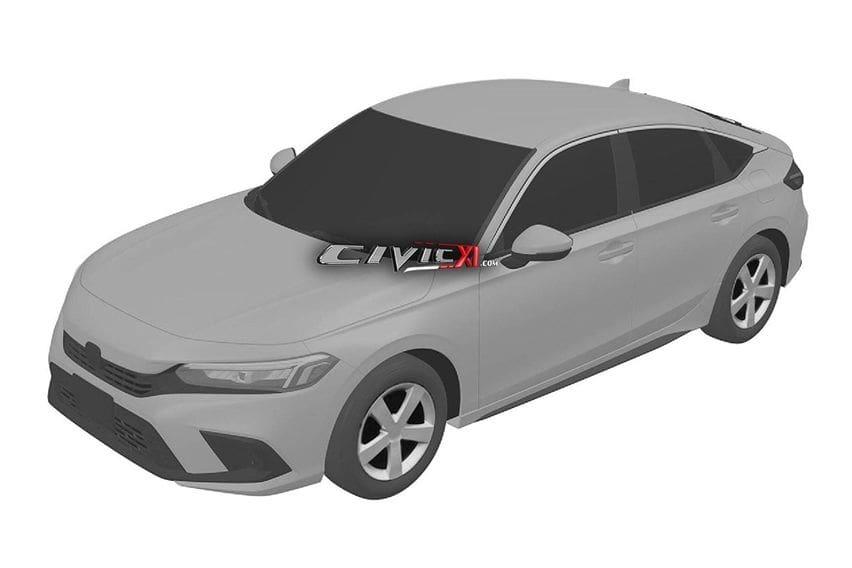 Beredar Gambar Paten Penerus Honda Civic, Menyuarakan Nuansa Accord dan Insight