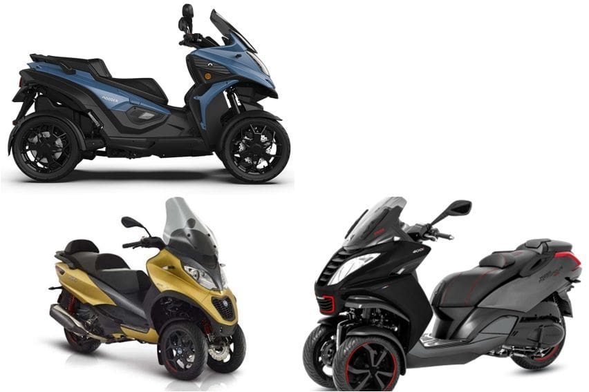 Adu Kestabilan dari Tambahan Roda: Piaggio MP3 500 HPE Sport Advance VS Peugeot Metropolis 400i VS Qooder