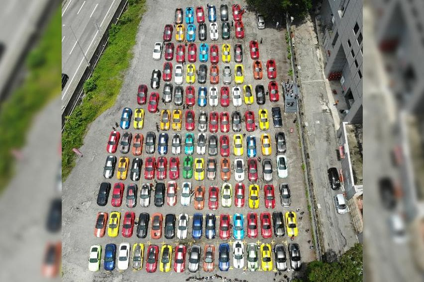 Ford Mustang gathering in Malaysia, sets a new record